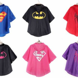 kids, super hero, cape, rain, poncho