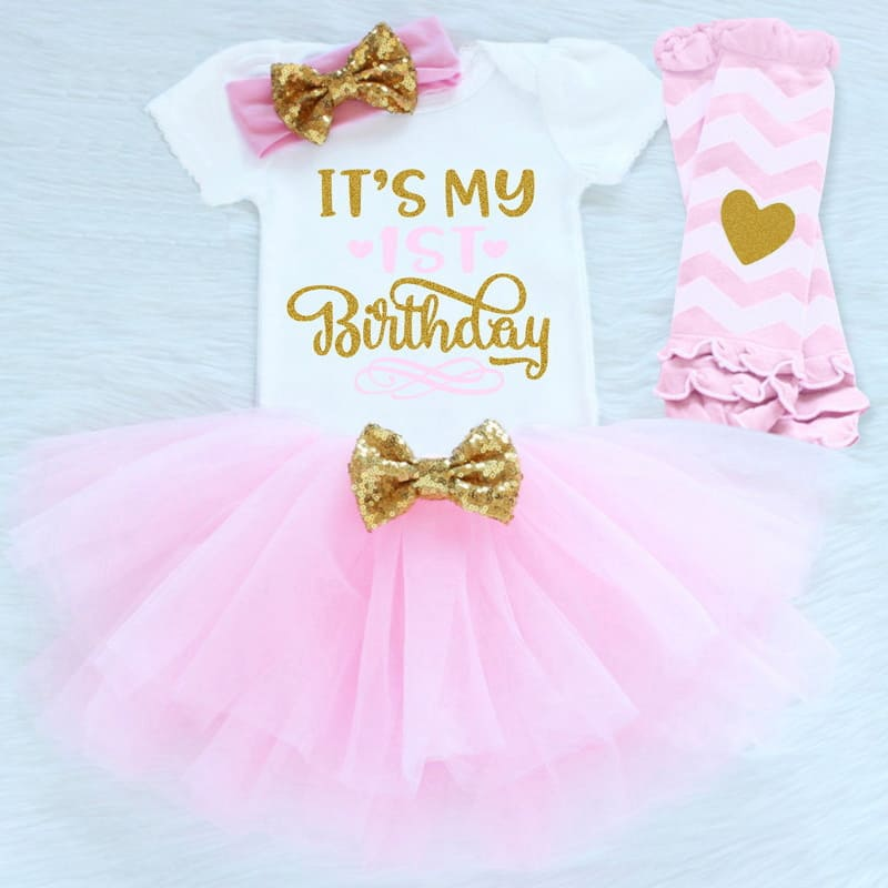 Its My First Birthday Pink Tutu Outfit