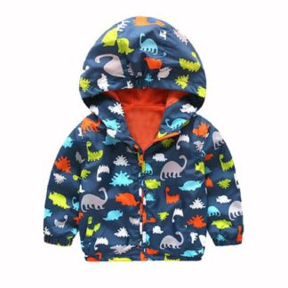 dinosaur, cartoon, jacket, windbreaker, boys, outerwear,