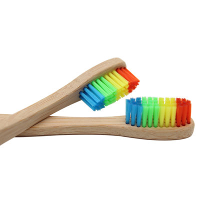 bamboo. rainbow toothbrush,