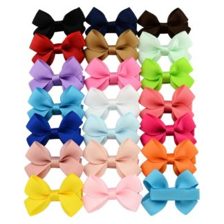 bow set, grosgrain bows, hair bows, hair clips, ribbon hair clips, easter hair clips, baby bows, baby clips, baby hair accessory, pastel baby clips