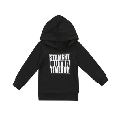 straight, outta, timeout, hoodie, kids, childrens, clothing