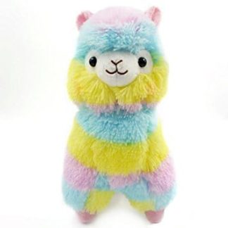 llama, alpaca, colorful, rainbow, plush