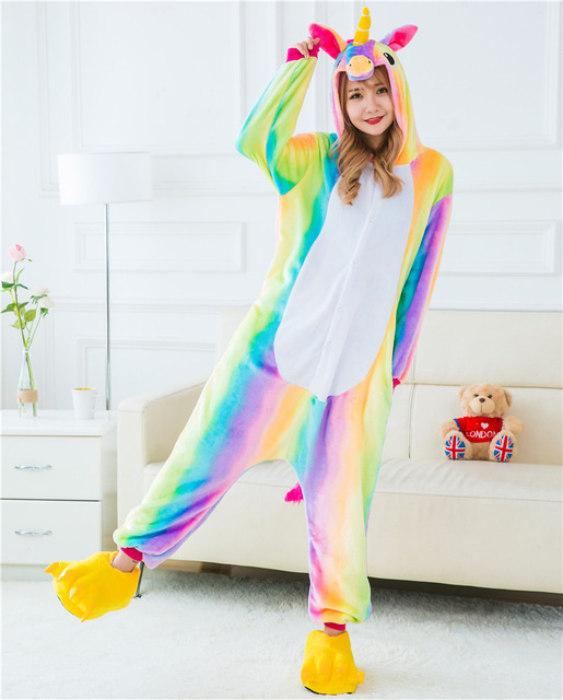 Adult and Teens Unicorn Sleeper   Onesie   Pajamas  8f6849d9a444