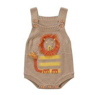 knit, lion, romper, onesie, boys, baby