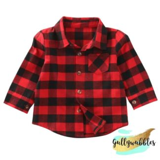 buffalo plaid toddler button down