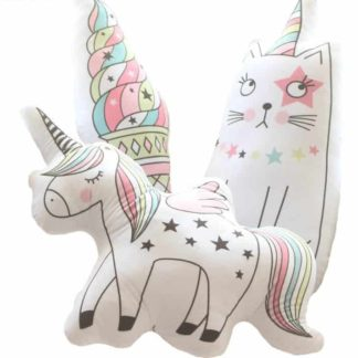 ice cream, unicorn, cat, pillow, kids