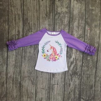 ruffled, unicorn, raglan, icing