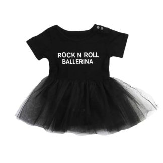 ROCK AND ROOL, BALLERINA, TUTU, GIRLS, ONESIE, ROMPER