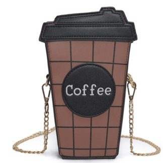 coffee, purse, novelty, kawaii, cross body