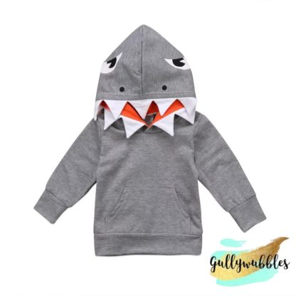 baby shark attack hoodie gullywubbles