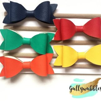 leather bows, hair bows, hair clips, leather hair clips, easter hair clips, baby bows, baby clips, baby hair accessory, pastel baby clips, leather hairbow headband, baby headband
